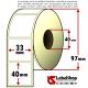 Rotolo da 1000 etichette adesive mm 33x40 Termiche 1 pista anima 40