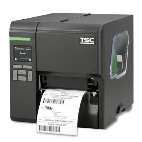 Stampante Industriale barcode per etichette termiche e a trasferimento TSC ML340P