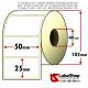 Rotolo da 2000 etichette adesive mm 50x25 vellum 1 pista anima 40