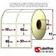 Rotolo da 2000 etichette adesive mm 50x40 vellum 2 piste anima 40
