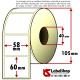 Rotolo da 750 etichette adesive mm 58x60 vellum 1 pista anima 40