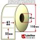 Rotolo da 1000 etichette adesive mm 61x55 vellum 1 pista anima 40