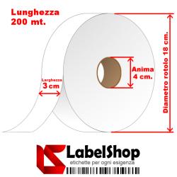 Nastro in Poliestere resinato per lavaggio e tintura H30 per etichette tessili