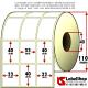 Rotolo da 6000 etichette adesive mm 33x40 Vellum 3 piste anima 40