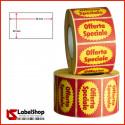 Etichette adesive prestampate offerta speciale 50x30 rotolo da 1000 carta vellum colorata