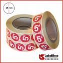 Bollini circolari adesivi segnaprezzo colorati diametro 18 mm stampa 5€