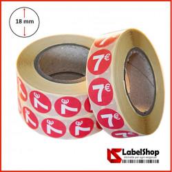 Bollini adesivi tondi segna prezzo colorati diametro 18 mm stampa 7€