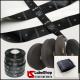 Rotolo nastro in raso nero per etichette tessili composizioni e simboli lavaggio