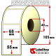 Rotolo da 1000 etichette adesive mm 68x55 vellum 1 pista anima 40 colla forte per frigoriferi