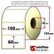 Rotolo da 900 etichette adesive mm 100x60 Termiche 1 pista anima 40