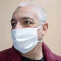 5 Mascherine protettive in TNT doppio strato per uso civile non medico