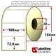 Rotolo da 700 etichette adesive mm 100x32 vellum 1 pista anima 40