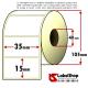 Rotolo da 3000 etichette adesive mm 35x15 Termiche 1 pista anima 40