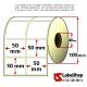 Rotolo da 2000 etichette adesive mm 50x50 vellum 2 piste anima 40