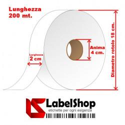 Nastro in Poliammide 20 mm x 200 m per etichette tessili