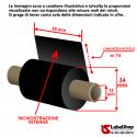 Ribbon 55 mm x 74 m. inchiostrazione Interna WAX CERA per stampa a trasferimento termico