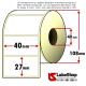 Rotolo da 2000 etichette adesive mm 40x27 Vellum 1 pista anima 40