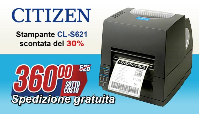 Promozione stampante Citizen CL-S621