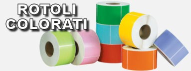 Rotoli etichette colorate